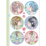 Stamperia - Decoupage Rice Paper A4 - Fairy Faces In Spheres (DFSA4414)