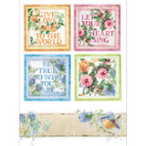 Stamperia - Decoupage Rice Paper A4 - Flowers For You Collection - Cards (DFSA4418)