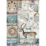 Stamperia - Decoupage Rice Paper A4 - Cosmos Collection - Cosmos Deer (DFSA4390)