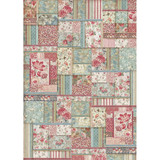 Stamperia - Decoupage Rice Paper A3 - Grand Hotel Collection - Flower Patchwork (DFSA3038)