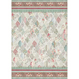 Stamperia - Decoupage Rice Paper A3 - Grand Hotel Collection - Patchwork Lozenges (DFSA3048)