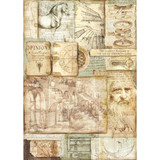 Stamperia - Decoupage Rice Paper A3 - Leonardo Artworks (DFSA3046)