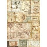 Stamperia - Decoupage Rice Paper A3 - Leonardo Artworks (DFSA3046)