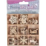 Darice - Flourish Wooden Pack - Christmas - 45/pkg (WS2015 - 03)