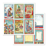 Stamperia - Double-Sided Cardstock 12x12- Make A Wish - Christmas Cards (SBB636)