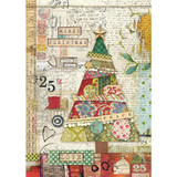 Stamperia - Decoupage Rice Paper A4 - Make A Wish - Patchwork Tree (DFSA4406)