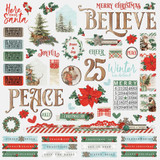 Simple Stories - Combo Sticker Sheet 12x12 - Country Christmas (COC11301)