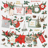 Simple Stories - Sticker Sheet 12x12 - Country Christmas - Banners (COC11302)