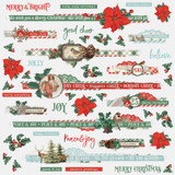 Simple Stories - Sticker Sheet 12x12 - Country Christmas - Borders (COC11336)