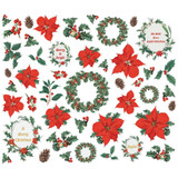 Simple Stories - Bits & Pieces Die-Cuts 45/Pkg - Country Christmas - Floral (COC11322)