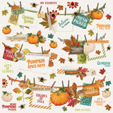 Simple Stories -12x12 Sticker Element Sticker Sheet- Autumn Splendor (UTS11232)
