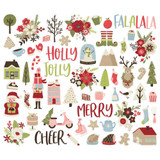 Simple Stories - Bits & Pieces Die-Cuts 59/Pkg - Holly Jolly (HOJ11420)