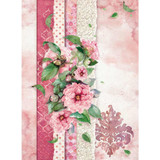 Stamperia - Decoupage Rice Paper A4 - Flowers For You Collection - Pink (DFSA4415)