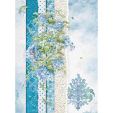 Stamperia - Decoupage Rice Paper A4 - Flowers For You Collection - Blue (DFSA4417)