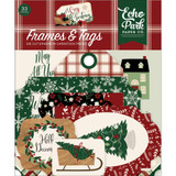 Echo Park - Ephemera Frames & Tags Die-Cuts 33/Pkg - A Cozy Christmas (AC189025)