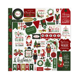 Echo Park - Cardstock Element Sticker 12x12- Here Comes Santa Claus (HC188014)
