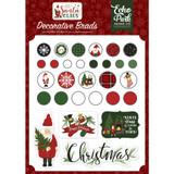 Echo Park - Decorative Brads & Chipboard - Here Comes Santa Claus (601114)