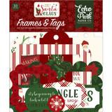 Echo Park - Ephemera Frames & Tags Die-Cuts 33/Pkg - Here Comes Santa Claus (HC188025)