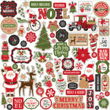 Echo Park - Cardstock Element Sticker Sheet 12x12 - My Favorite Christmas (MF190014)