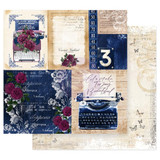 Prima Marketing - Double sided 12x12 Paper w/Foil Accents - Darcelle - Plot Twist (DARC12 49429)