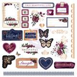 Prima Marketing - Darcelle - Cardstock Ephemera & Stickers 126/Pkg (642037)