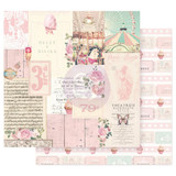 Prima Frank Garcia - Double sided 12x12 Paper w/Foil Accents - Dulce - Divina (DULCE12 95614)