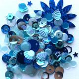 Spiegel Mom Scraps - Sequins - Blue Bludgrin (SMS - BlBludgrin)