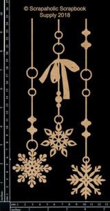 Scrapaholics - Laser Cut Chipboard - Snowflake Dangles (S50077)