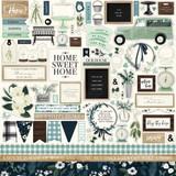 Carta Bella - Element Sticker Sheet 12x12 - Home Again (HO109014)