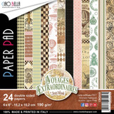 Ciao Bella - Double-Sided Paper Collection 6x6 24/Pkg - Voyages Extraordinaires (CBQ020)