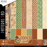 "Ciao Bella - 12""X12"" Double-Sided Paper Collection - Codex Leonardo - Coordinating Prints (CBT010)"