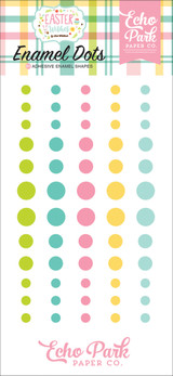 Echo Park - Adhesive Enamel Dots - 60/Pkg - Easter Wishes (EW174028)