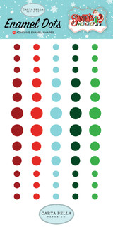 Carta Bella - Decorative Enamel Dots 60/Pkg - Santa's Workshop (CBSW90028)
