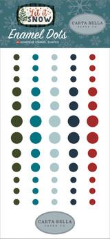 Carta Bella - Adhesive Enamel Dots - 60/Pkg - Let It Snow
