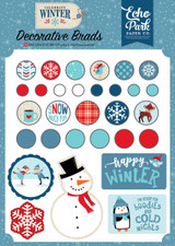 Echo Park - Decorative Brads & Chipboard - Celebrate Winter (CW162020)