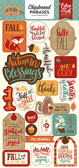 "Echo Park Paper - Chipboard 6""X13"" - Phrases - Celebrate Autumn (AU158022)"