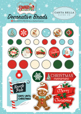 Carta Bella - Decorative Brads & Chipboard - Santa's Workshop (CBSW90020