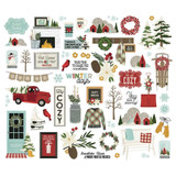 Simple Stories - Ephemera 54/Pkg - Winter Farmhouse - Bits and Pieces (WTR11620)