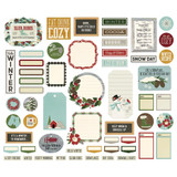 Simple Stories - Ephemera 57/Pkg - Winter Farmhouse - Journal Bits and Pieces (WTR11621)