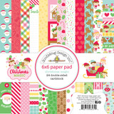 Doodlebug - 24 Double-Sided Cardstock Paper Pack 6x6 - Christmas Magic (CM6531)