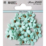 49 and Market - Flowers Pixie Petals 18/Pkg - Sea Glass (49PP 89111)