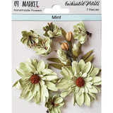 49 and Market - Flowers Enchanted Petals 7/Pkg - Mint (49EP 89043)