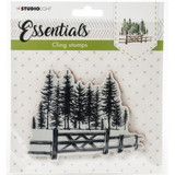Studio Light - Essentials Stamp - NR. 11 - Tree with Rustic Fence (LINGSL11)