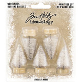Tim Holtz Idea-Ology - Woodland Mini Tree Lot Trees 5/Pkg (TH93758)