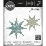 Sizzix - Tim Holtz - Framelits Dies 2/Pkg - Fanciful Snowflakes (664227)