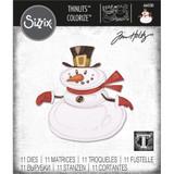 Sizzix - Tim Holtz - Framelits Dies 11/Pkg - Mr. Snowman, Colorize (664230)