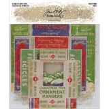 Tim Holtz - Idea-Ology - Vignette Box Tops 5/Pkg - Christmas 2019 (TH94000)