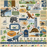 Carta Bella - Element Sticker Sheet 12x12 - Dinosaurs (DI110014)