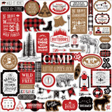 Echo Park - Element Sticker Sheet 12x12 - Little Lumberjack (LL195014)