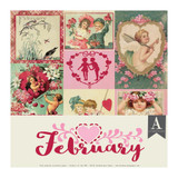 Authentique - Calendar Collection 12x12 - 3/Pkg February (CAL-050)